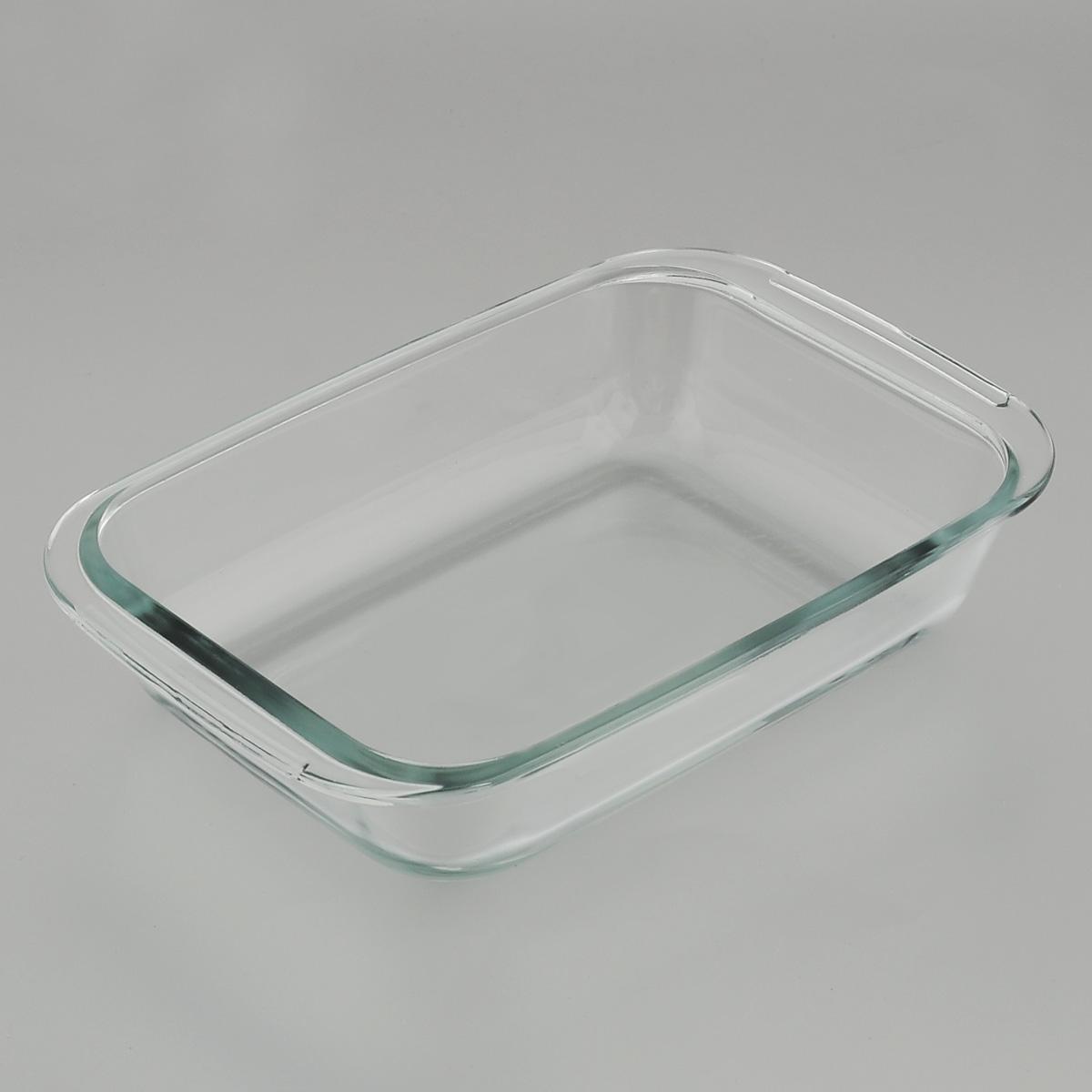 """Прямоугольная форма для запекания """"Mijotex"""" изготовлена из жаропрочного стекла,  которое выдерживает температуру до +450°С. Форма предназначена для  приготовления горячих блюд. Оснащена двумя ручками. Материал изделия гигиеничен, прост в уходе и обладает высокой степенью прочности.  Форма идеально подходит для использования в духовках, микроволновых печах,  холодильниках и морозильных камерах. Также ее можно использовать на газовых  плитах (на слабом огне) и на электроплитах. Можно мыть в посудомоечной  машине. Внутренний размер формы: 19 см х 15 см. Внешний размер формы (с учетом ручек): 23 см х 15 см.  Высота стенки формы: 5 см."""