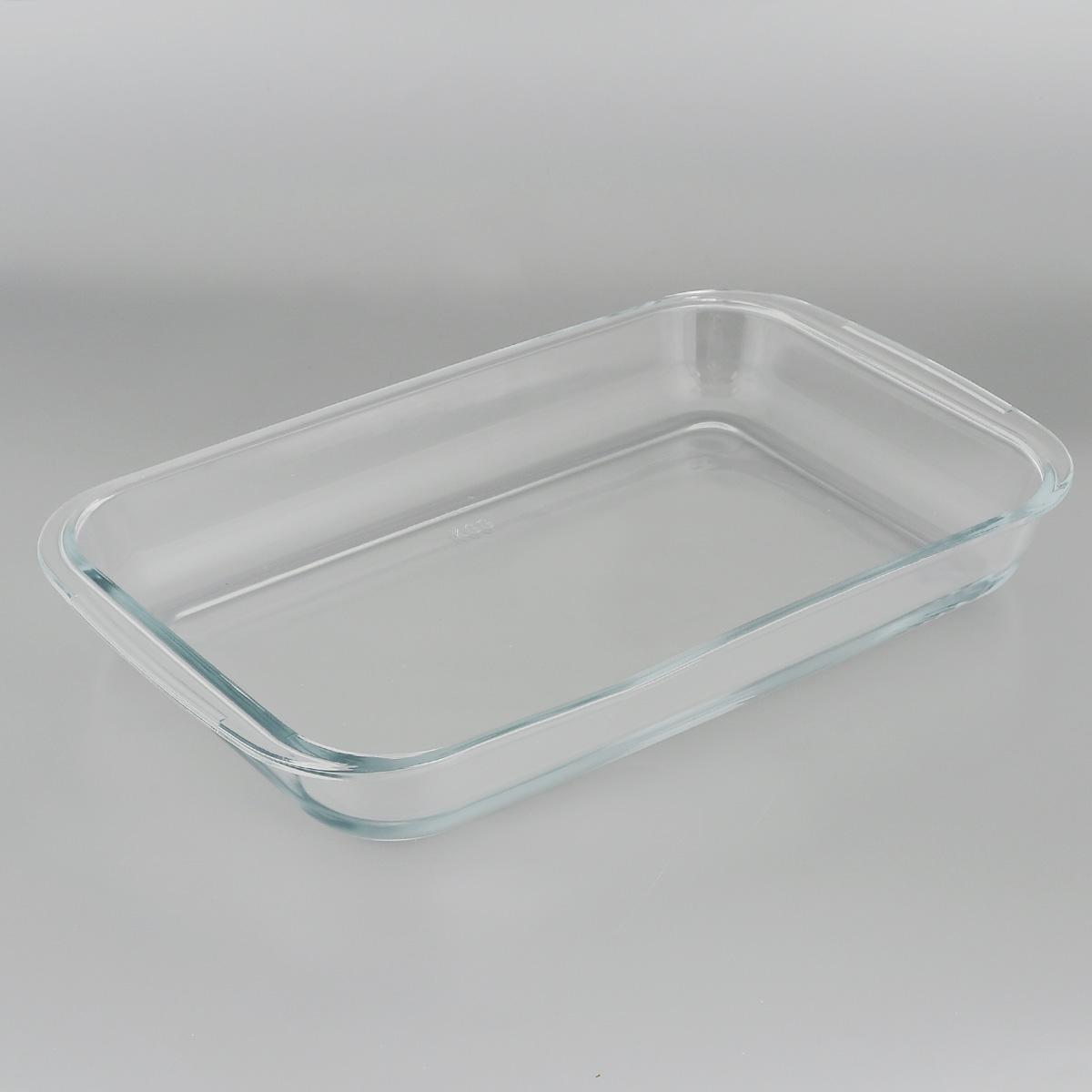 Форма для запекания Едим Дома, прямоугольная, 39 х 23 смPV4Прямоугольная форма для запекания Едим Дома изготовлена из жаропрочного стекла,которое выдерживает температуру до +450°С. Форма предназначена дляприготовления горячих блюд. Оснащена двумя ручками. Материал изделия гигиеничен, прост в уходе и обладает высокой степенью прочности.Форма идеально подходит для использования в духовках, микроволновых печах,холодильниках и морозильных камерах. Также ее можно использовать на газовыхплитах (на слабом огне) и на электроплитах. Можно мыть в посудомоечноймашине. Внутренний размер формы: 35 см х 23 см. Внешний размер формы (с учетом ручек): 39 см х 23 см.Высота стенки формы: 5 см.