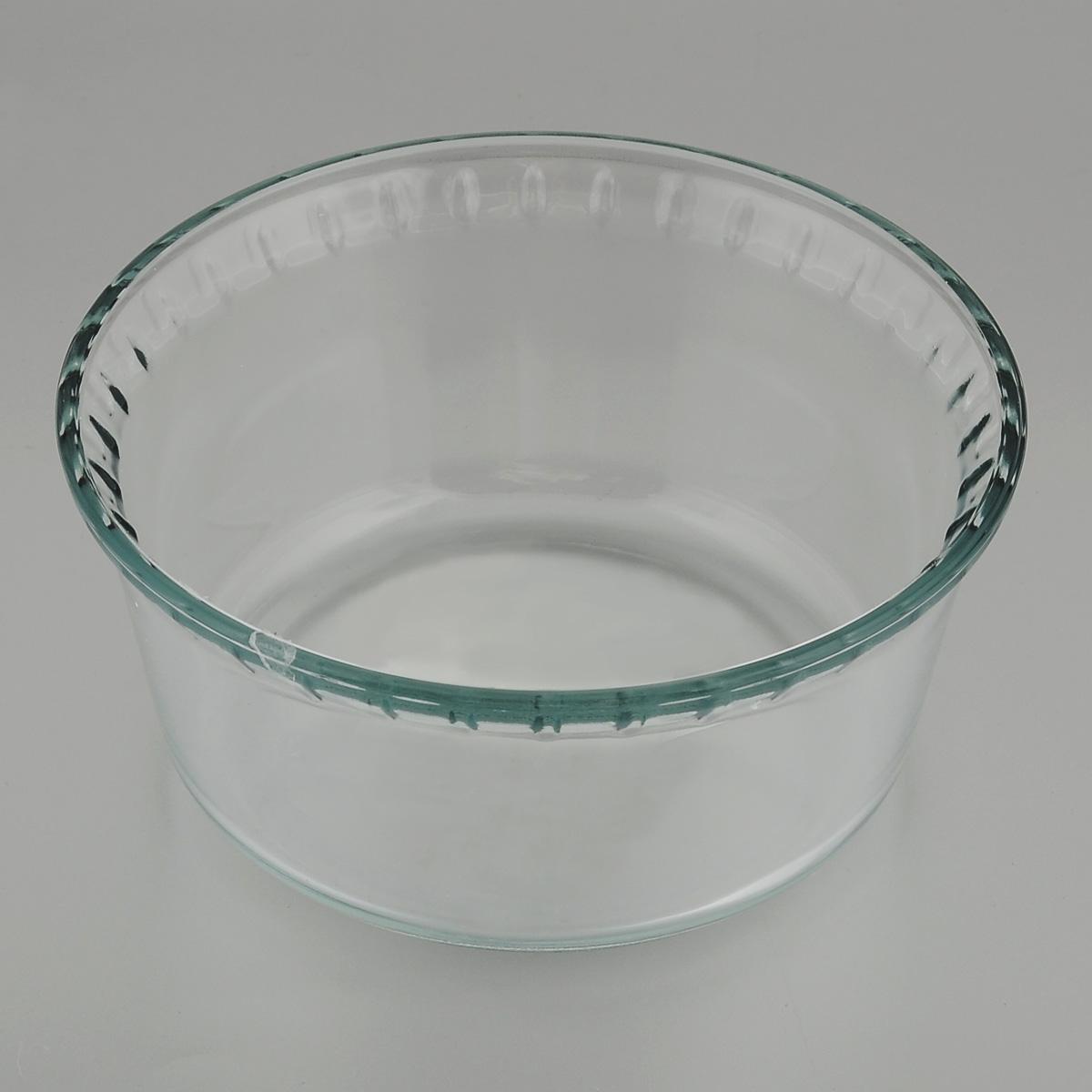 Форма для запекания Mijotex, круглая, диаметр 17 смPL21Глубокая круглая форма для запекания Mijotex изготовлена из жаропрочного стекла, которое выдерживает температуру до +450°С. Форма предназначена для приготовления горячих блюд. Материал изделия гигиеничен, прост в уходе и обладает высокой степенью прочности. Форма идеально подходит для использования в духовках, микроволновых печах, холодильниках и морозильных камерах. Также ее можно использовать на газовых плитах (на слабом огне) и на электроплитах. Можно мыть в посудомоечной машине.Диаметр формы: 17 см.Высота стенки формы: 8 см.