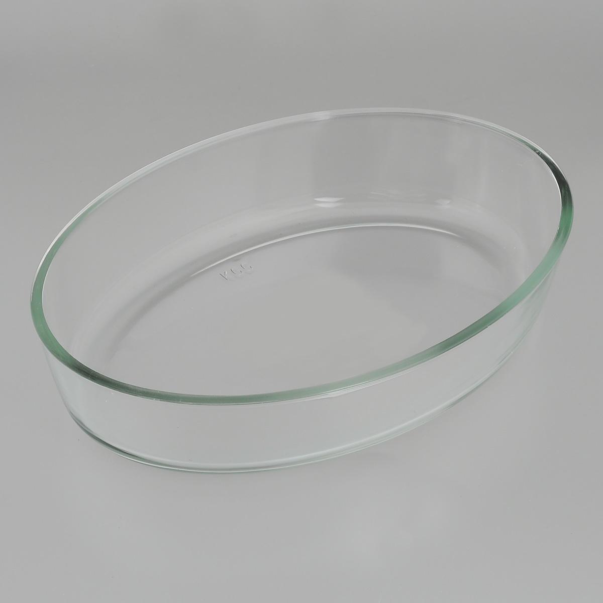 """Овальная форма для запекания """"Mijotex"""" изготовлена из жаропрочного стекла, которое выдерживает температуру до +450°С. Форма предназначена для приготовления горячих блюд. Материал изделия гигиеничен, прост в уходе и обладает высокой степенью прочности.  Форма идеально подходит для использования в духовках, микроволновых печах, холодильниках и морозильных камерах. Также ее можно использовать на газовых плитах (на слабом огне) и на электроплитах. Можно мыть в посудомоечной машине. Размер формы (по верхнему краю): 26 см х 18 см. Высота стенки формы: 6 см."""