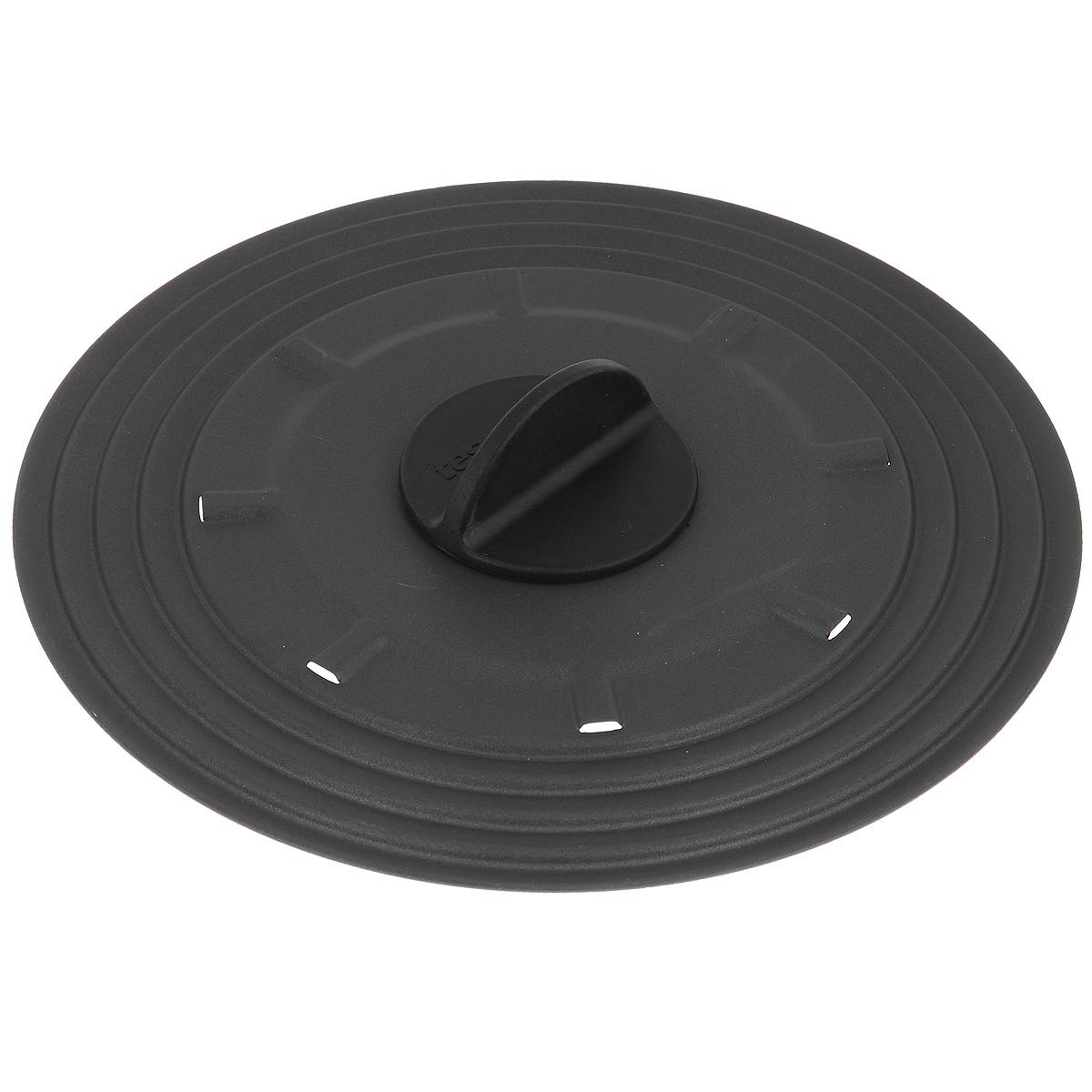Крышка универсальная Tescoma Presto, для сковородок диаметром 20-24 см594952Крышка Tescoma Presto подходит в качестве универсальной крышки к сковородам диаметром 20-24 см. Изготовлена из огнеупорного нейлона с высококачественным антипригарным покрытием для легкой очистки. Имеет несколько отверстий для выхода пара. Ручка не нагревается.Можно мыть в посудомоечной машине.