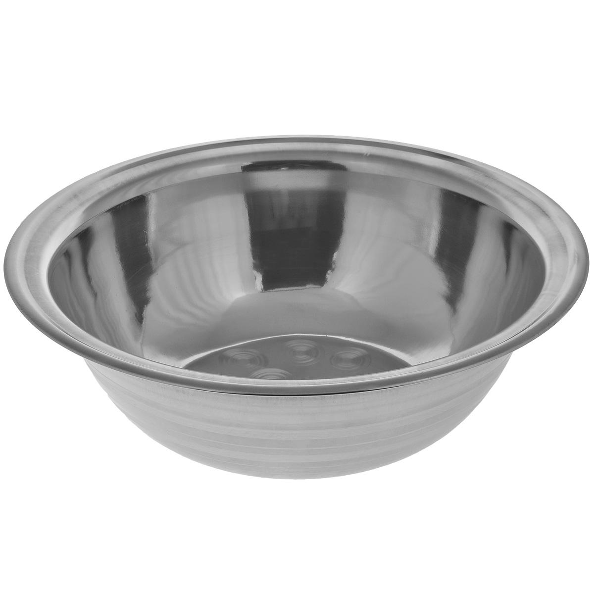 Таз Padia, диаметр 48 см5000-51Таз Padia выполнен из высококачественной нержавеющей стали, благодаря чему прослужит долгие годы. Его лаконичный дизайн прекрасно дополнит любой интерьер ванны или бани. Таз Padia пригодится в любом хозяйстве. Размер: 48 см х 48 см х 15,2 см.