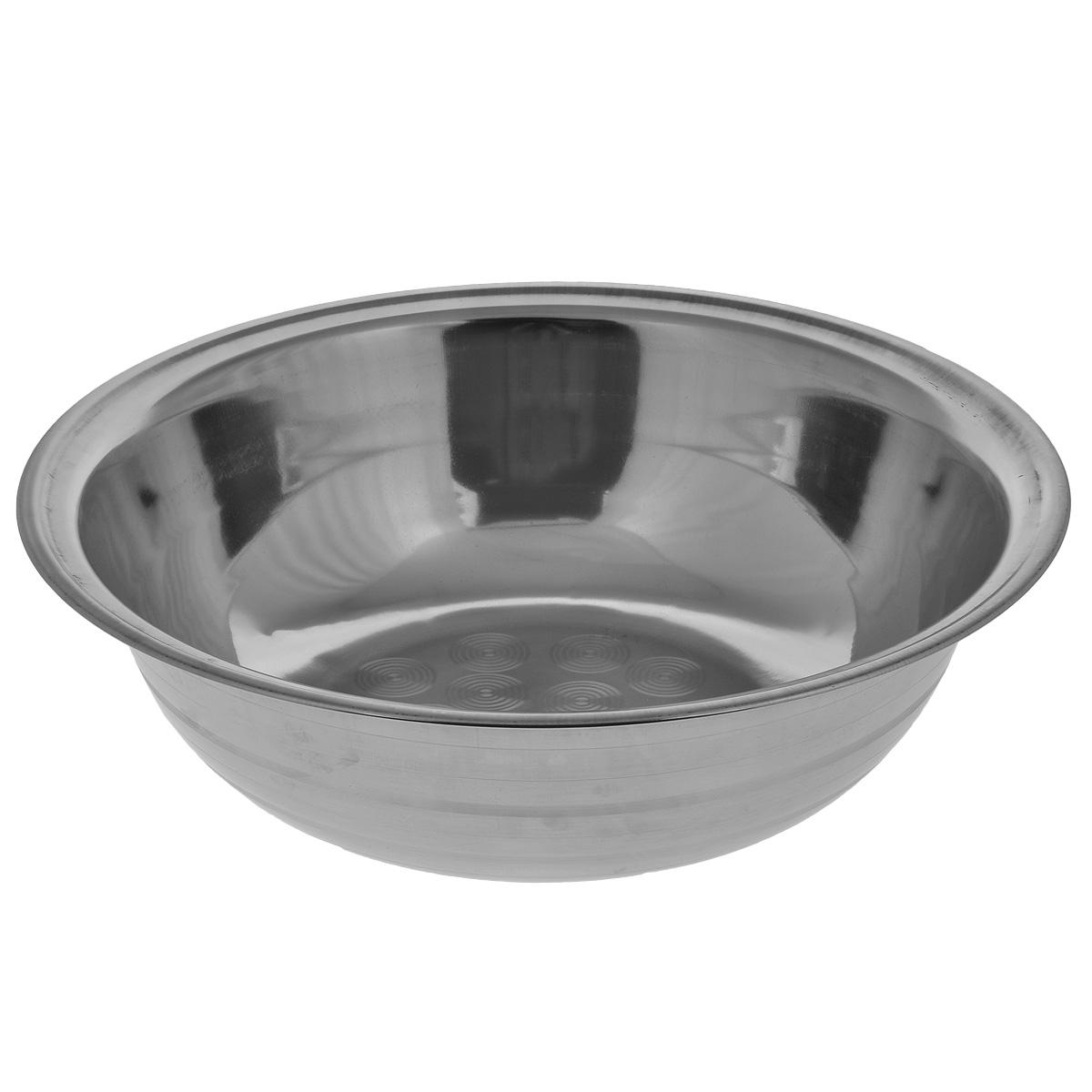 Таз Padia, диаметр 52 см5000-51Таз Padia выполнен из высококачественной нержавеющей стали, благодаря чему прослужит долгие годы. Его лаконичный дизайн прекрасно дополнит любой интерьер ванны или бани. Таз Padia пригодится в любом хозяйстве. Размер: 52 см х 52 см х 15,5 см.