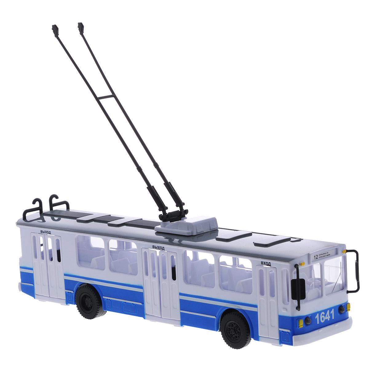 игрушка технопарк троллейбус trol rc Игрушка инерционная ТехноПарк Троллейбус