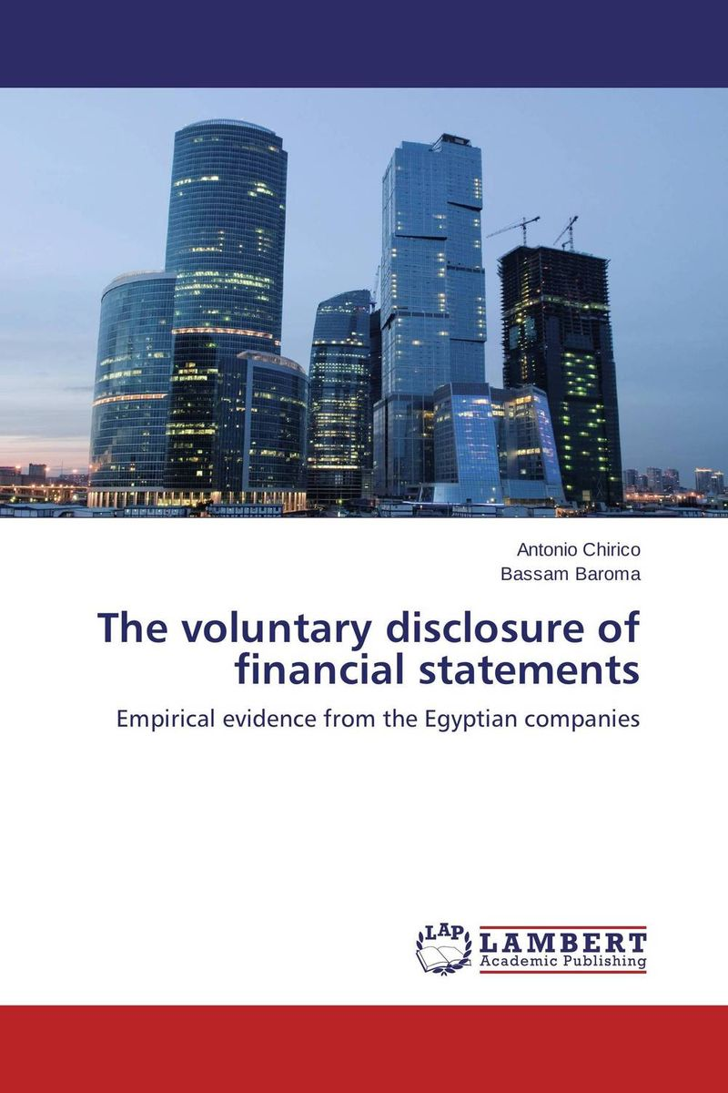 The voluntary disclosure of financial statements ittelson thomas financial statements