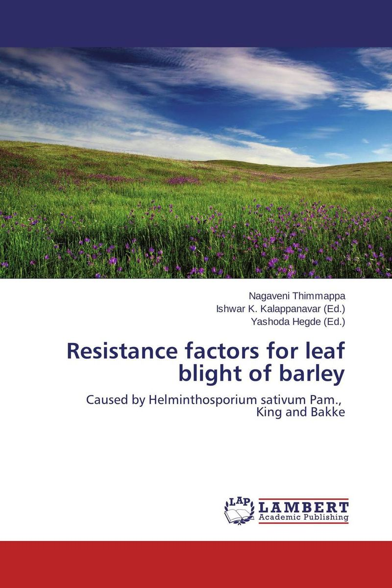 Resistance factors for leaf blight of barley butterflies in the barley