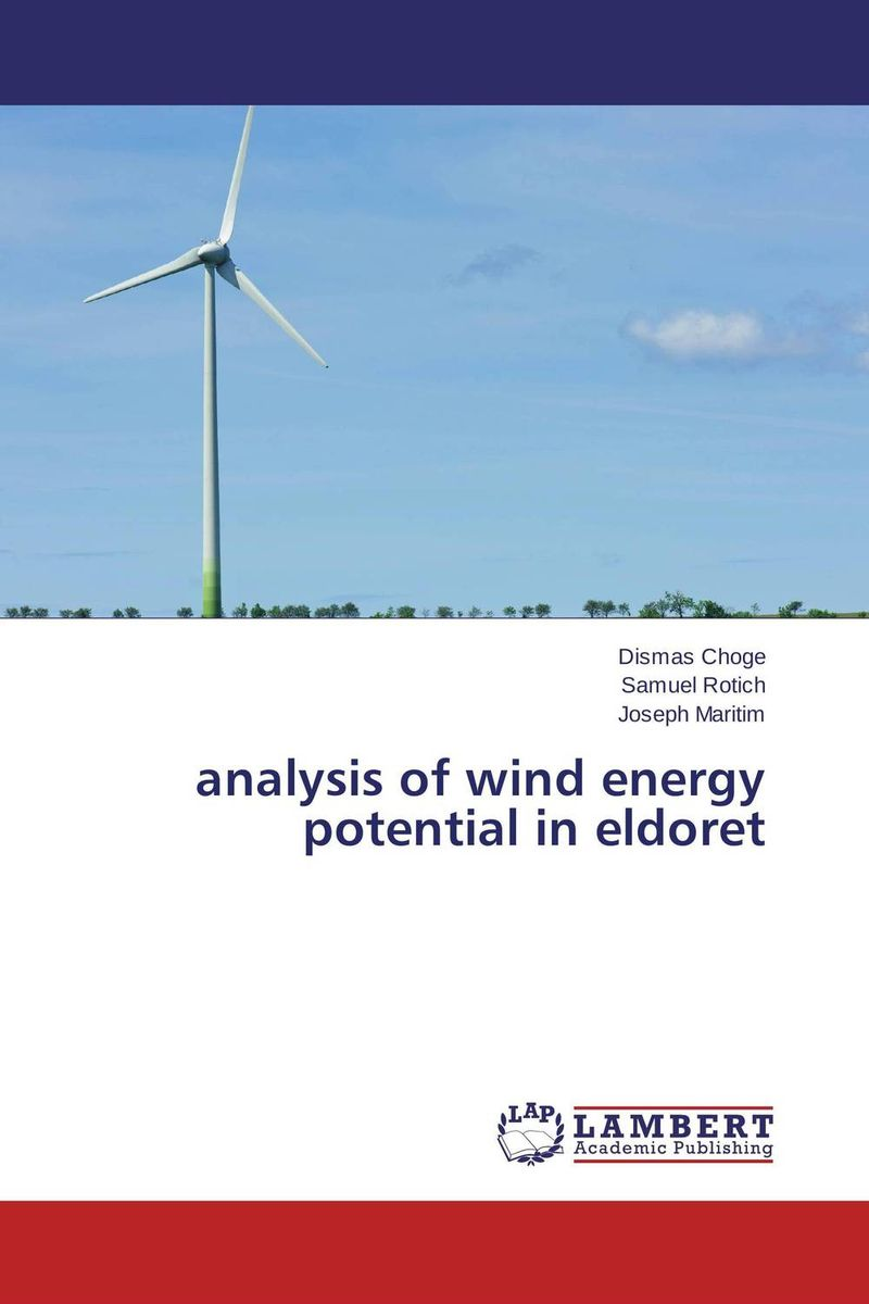 analysis of wind energy potential in eldoret wind of promise