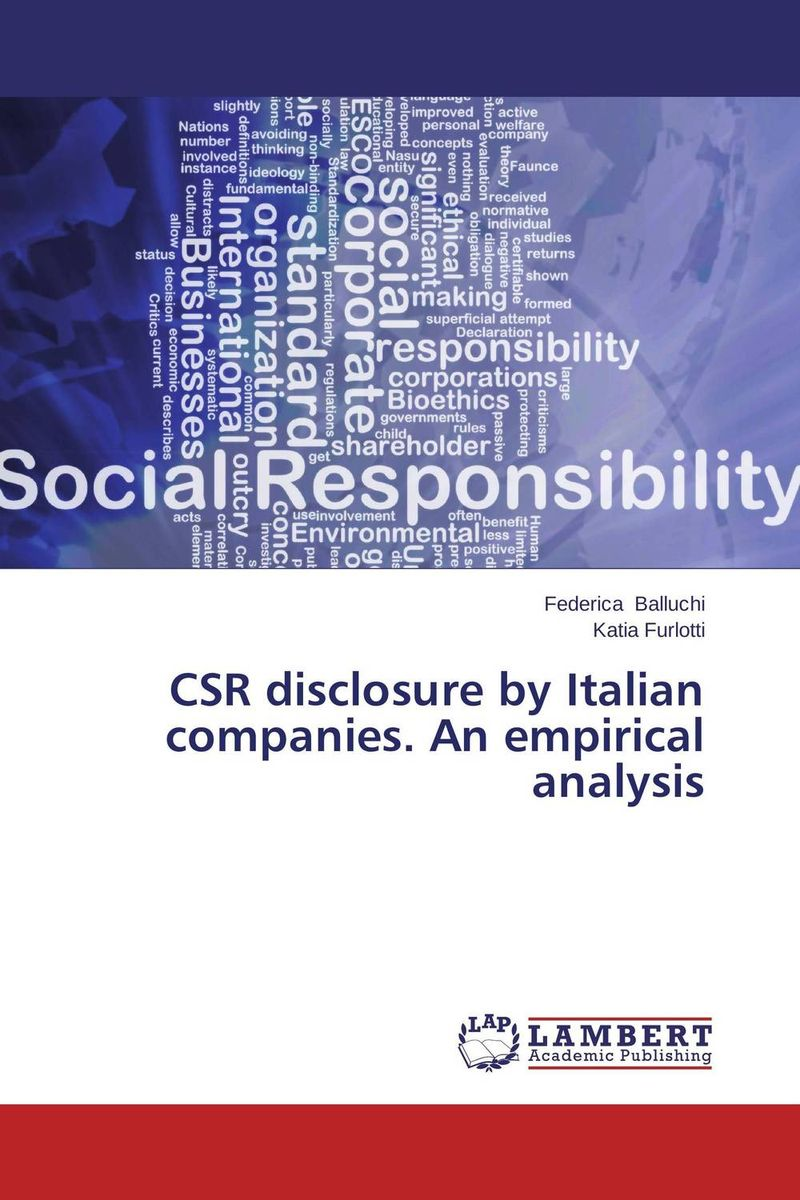 CSR disclosure by Italian companies. An empirical analysis arcade ndoricimpa inflation output growth and their uncertainties in south africa empirical evidence from an asymmetric multivariate garch m model