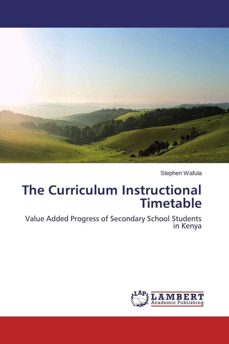 The Curriculum Instructional Timetable