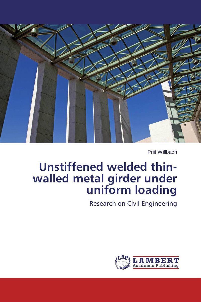 Unstiffened welded thin-walled metal girder under uniform loading