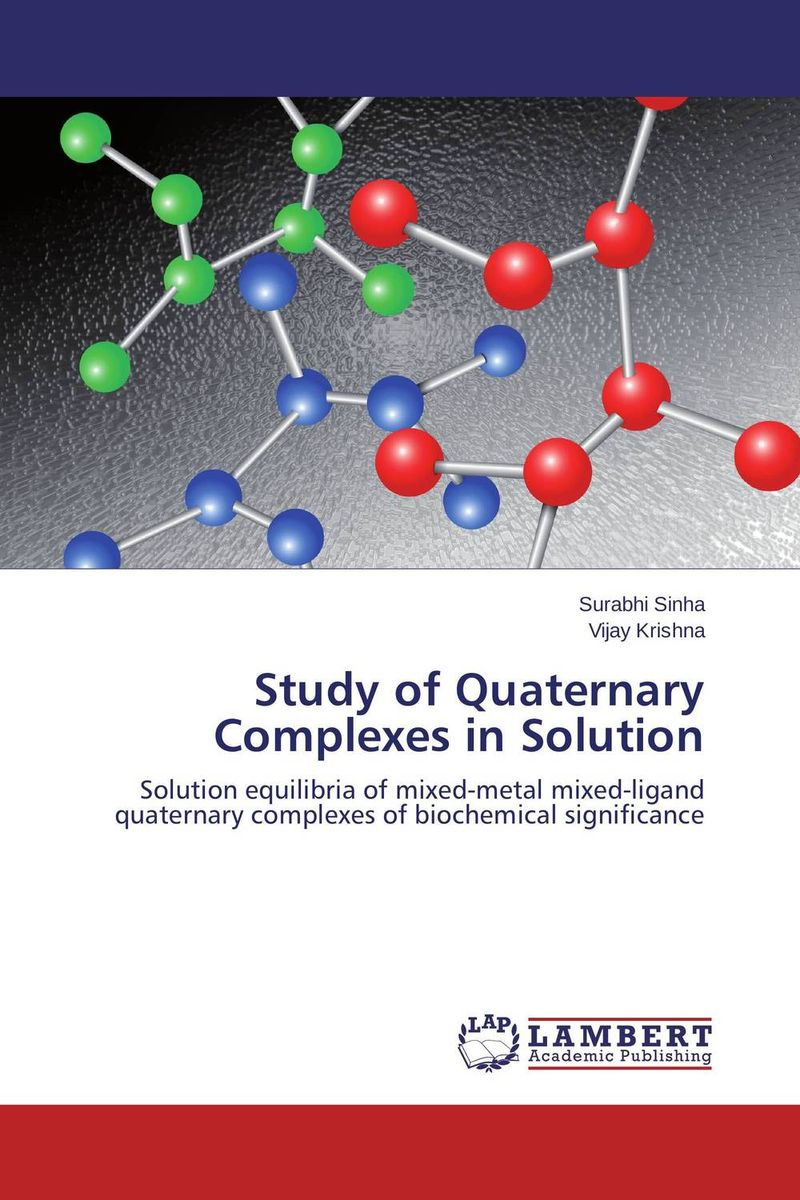 Study of Quaternary Complexes in Solution evaluation of aqueous solubility of hydroxamic acids by pls modelling