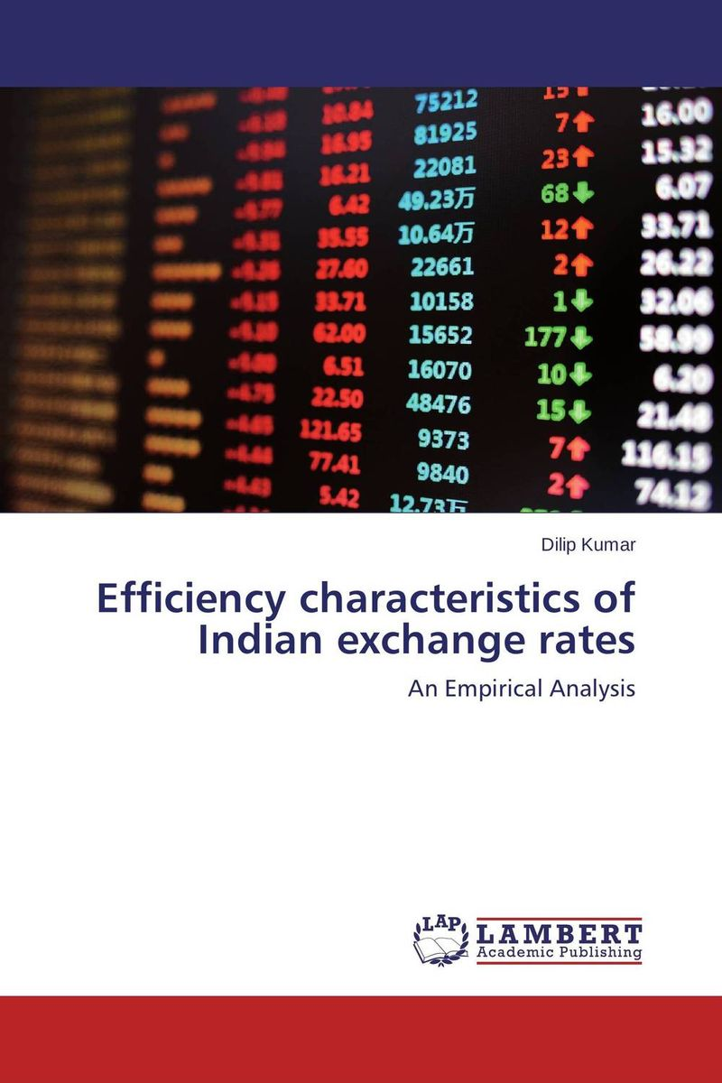 Efficiency characteristics of Indian exchange rates the book of memory