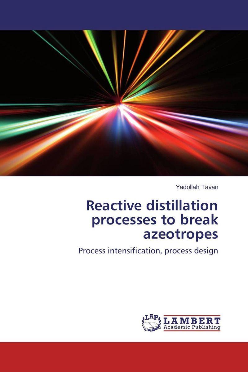 Reactive distillation processes to break azeotropes