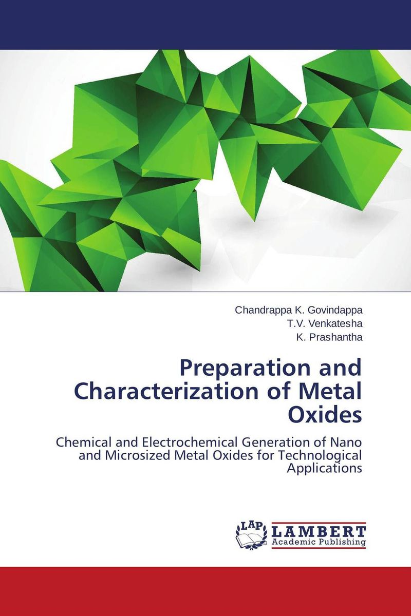 Preparation and Characterization of Metal Oxides generation of surface structuring using electrochemical micromachining
