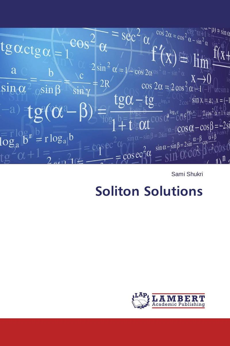 Soliton Solutions soliton solutions