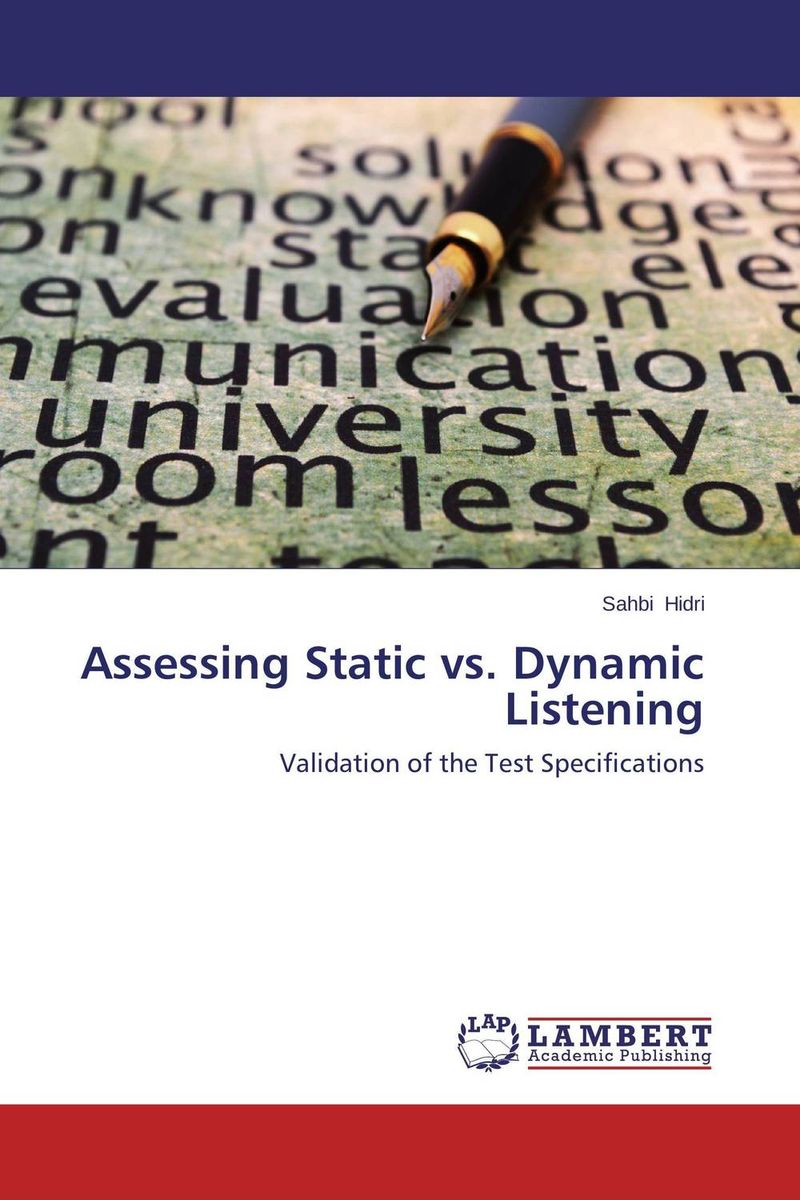 купить Assessing Static vs. Dynamic Listening недорого