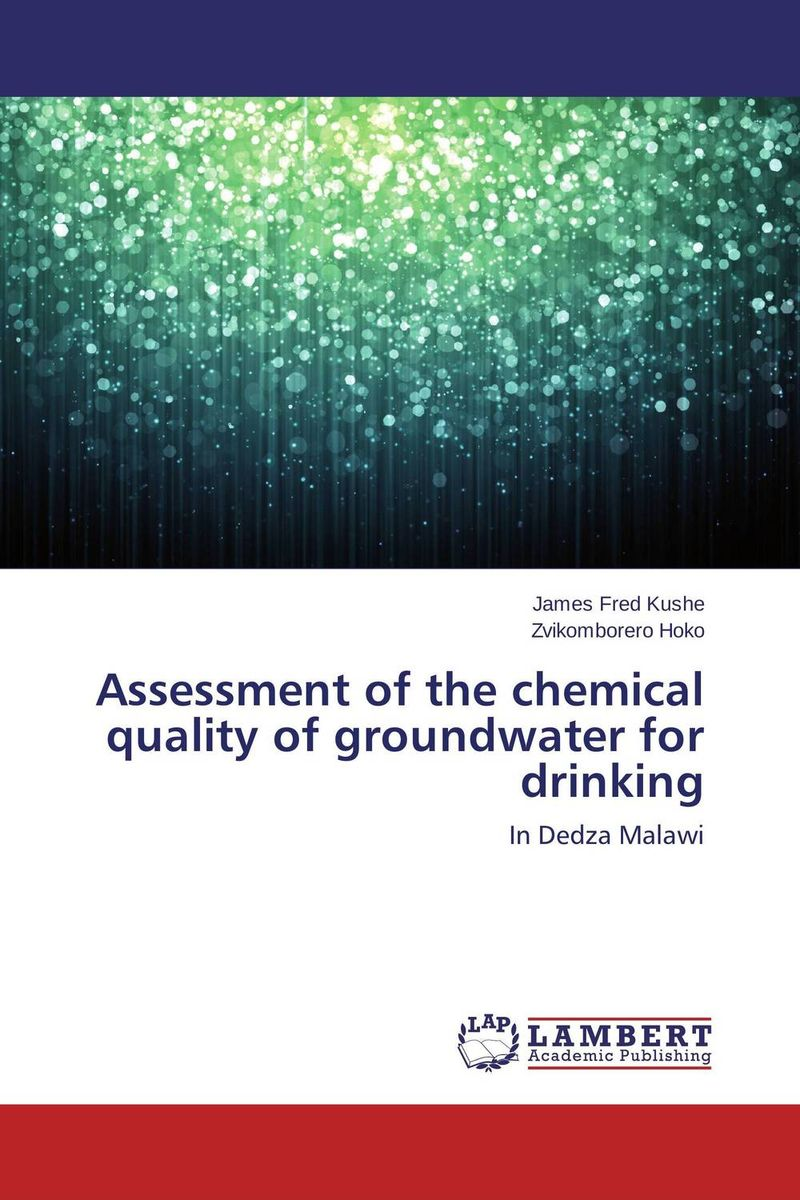 Assessment of the chemical quality of groundwater for drinking bride of the water god v 3
