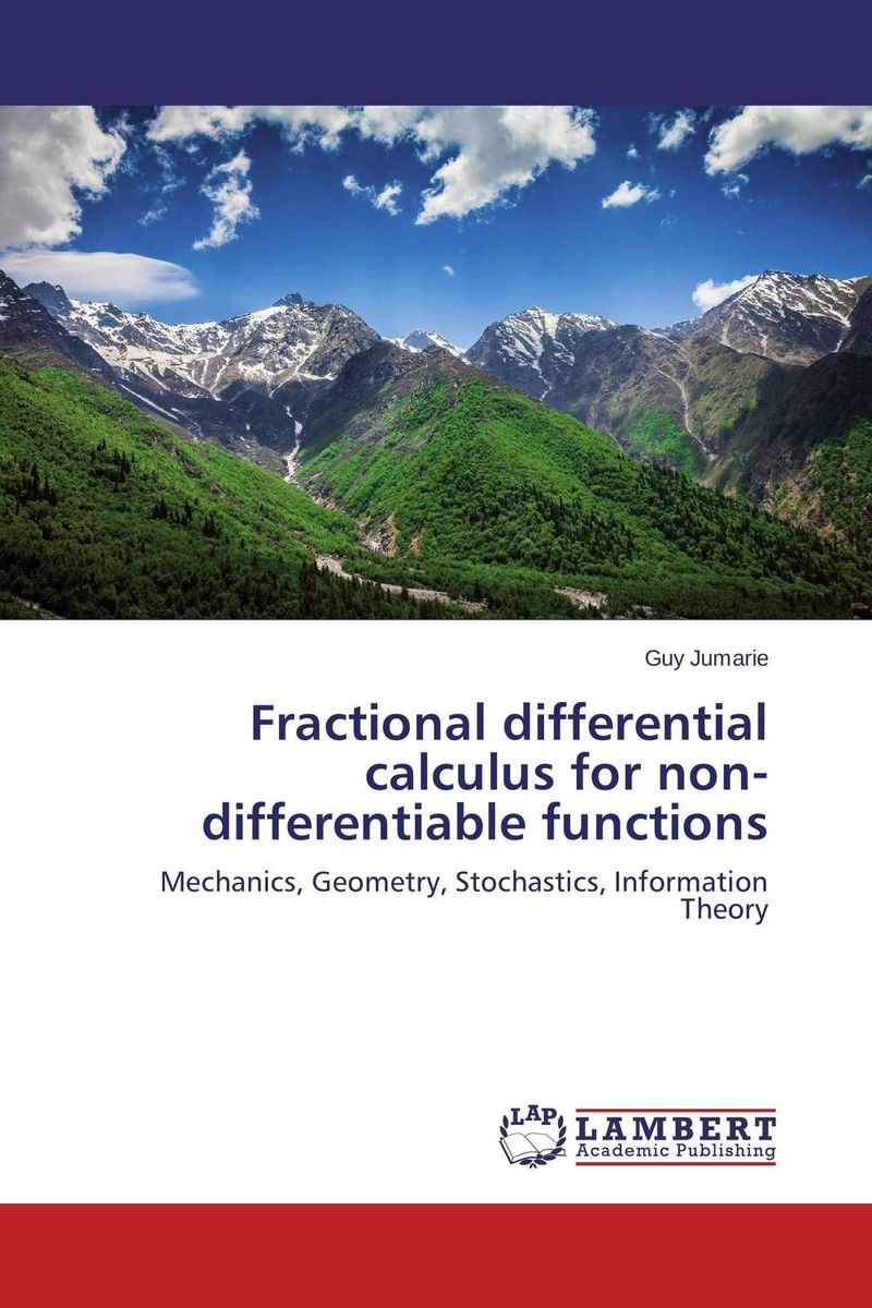 купить Fractional differential calculus for non-differentiable functions недорого