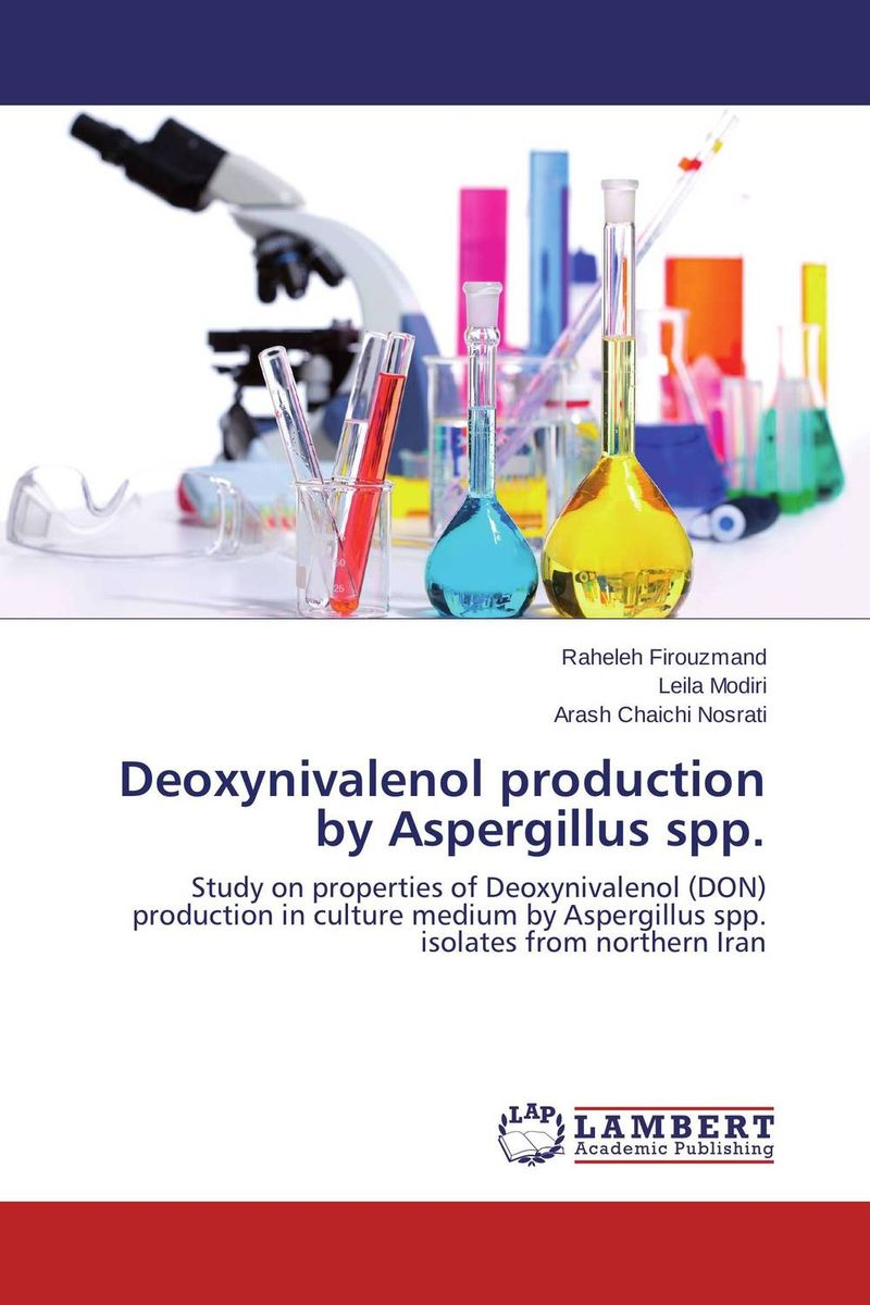 Deoxynivalenol production by Aspergillus spp. production and purification of laccase from white rot fungi