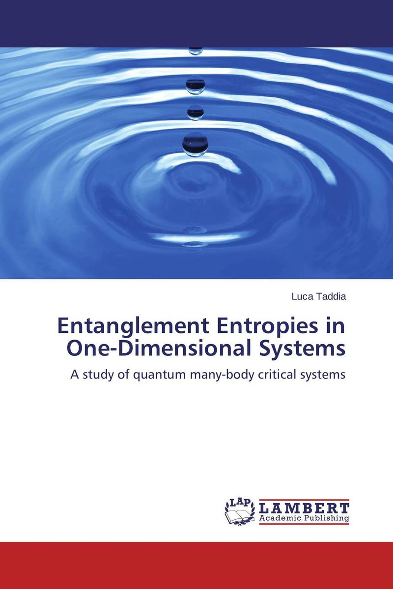 Entanglement Entropies in One-Dimensional Systems per olov lowden quantum systems in chemistry and physics part i 31