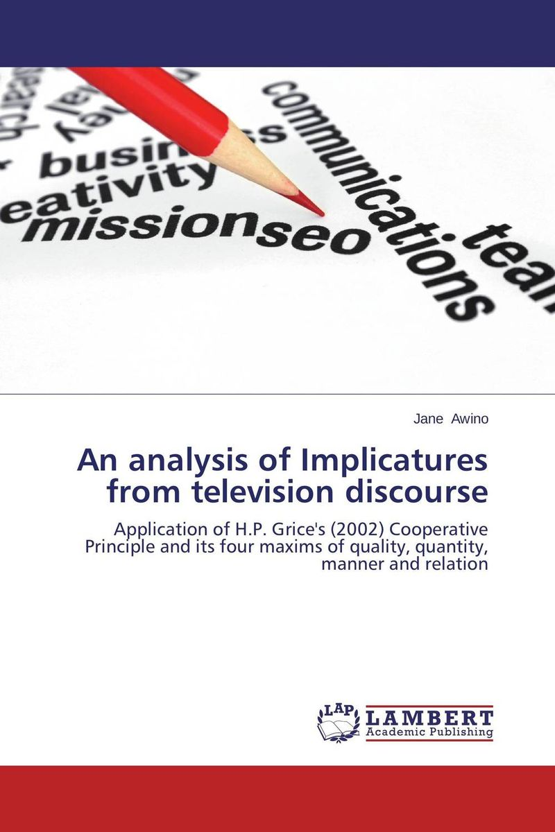 an analysis of television Television analysis television offers entertainment, education, and perhaps, even companionship some view the boob tube as an evil of society, while others maintain television's benefits whichever side you lean toward, it would be hard to dispute that television has changed american culture.
