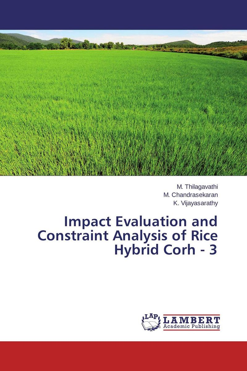 Impact Evaluation and Constraint Analysis of Rice Hybrid Corh - 3 evaluation of the impact of a mega sporting event