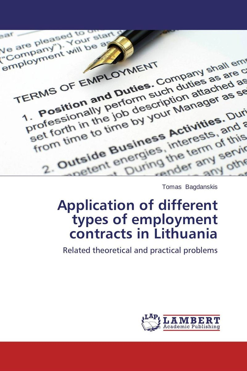 Application of different types of employment contracts in Lithuania