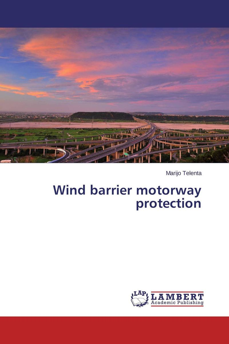 Wind barrier motorway protection a wind in the night
