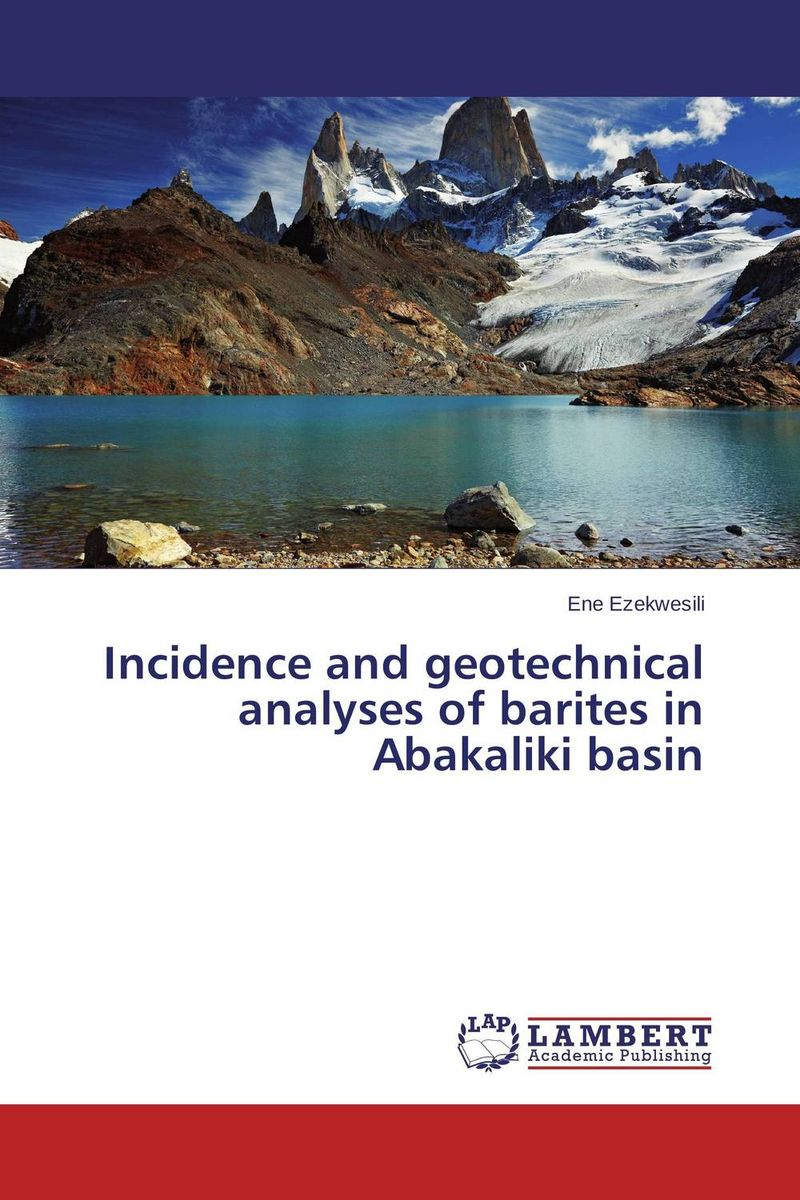 Incidence and geotechnical analyses of barites in Abakaliki basin incidence of lactobacilli in milk