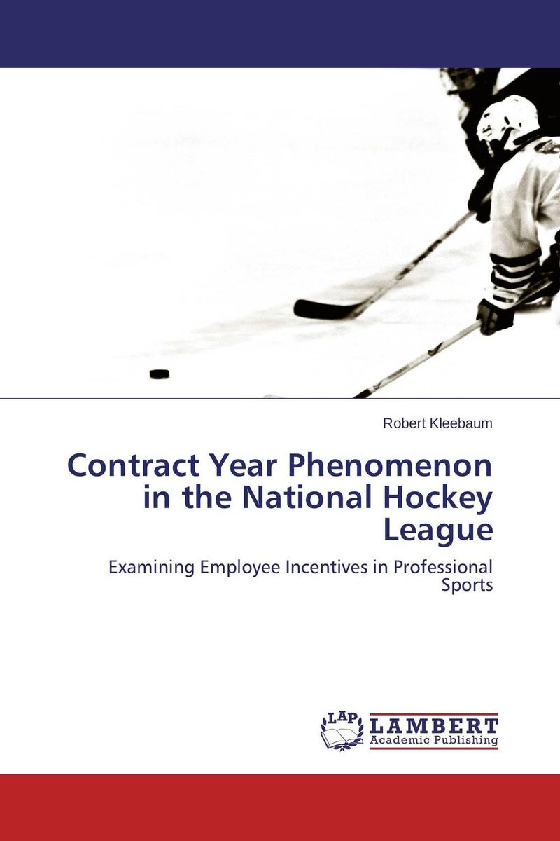 Contract Year Phenomenon in the National Hockey League sandals general managers