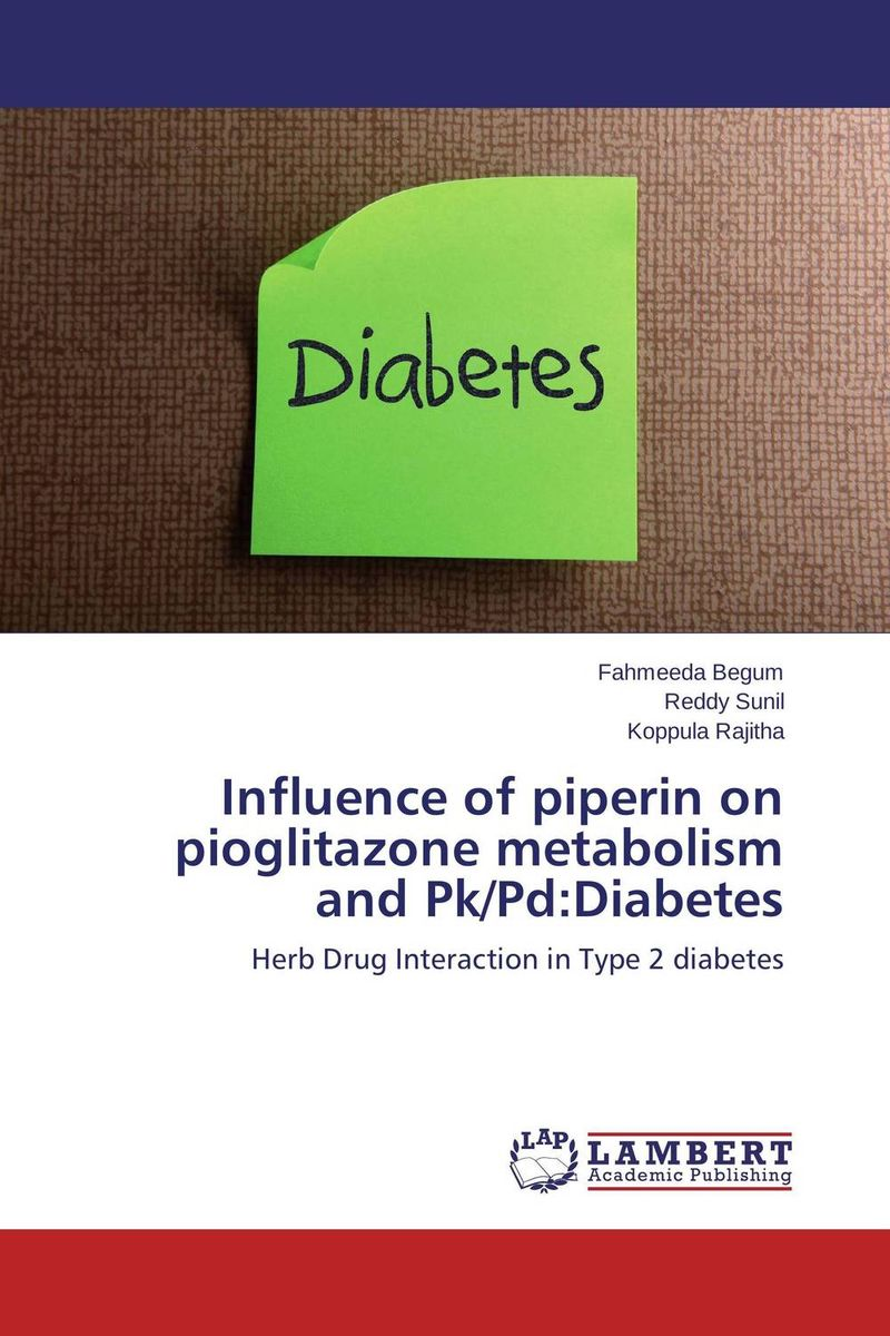 Influence of piperin on pioglitazone metabolism and Pk/Pd:Diabetes effect of cyclooxygenase inhibitors on diabetic complications