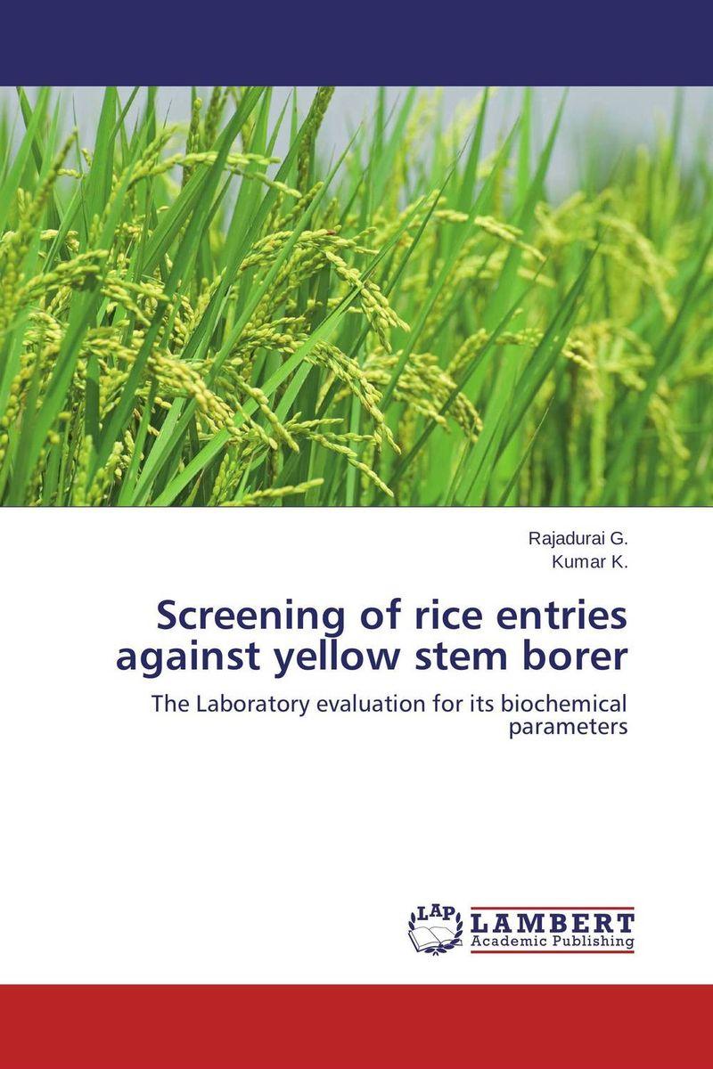 Screening of rice entries against yellow stem borer krishna kaveri das debabrata panda and ramani kumar sarkar screening of submergence tolerance in rice