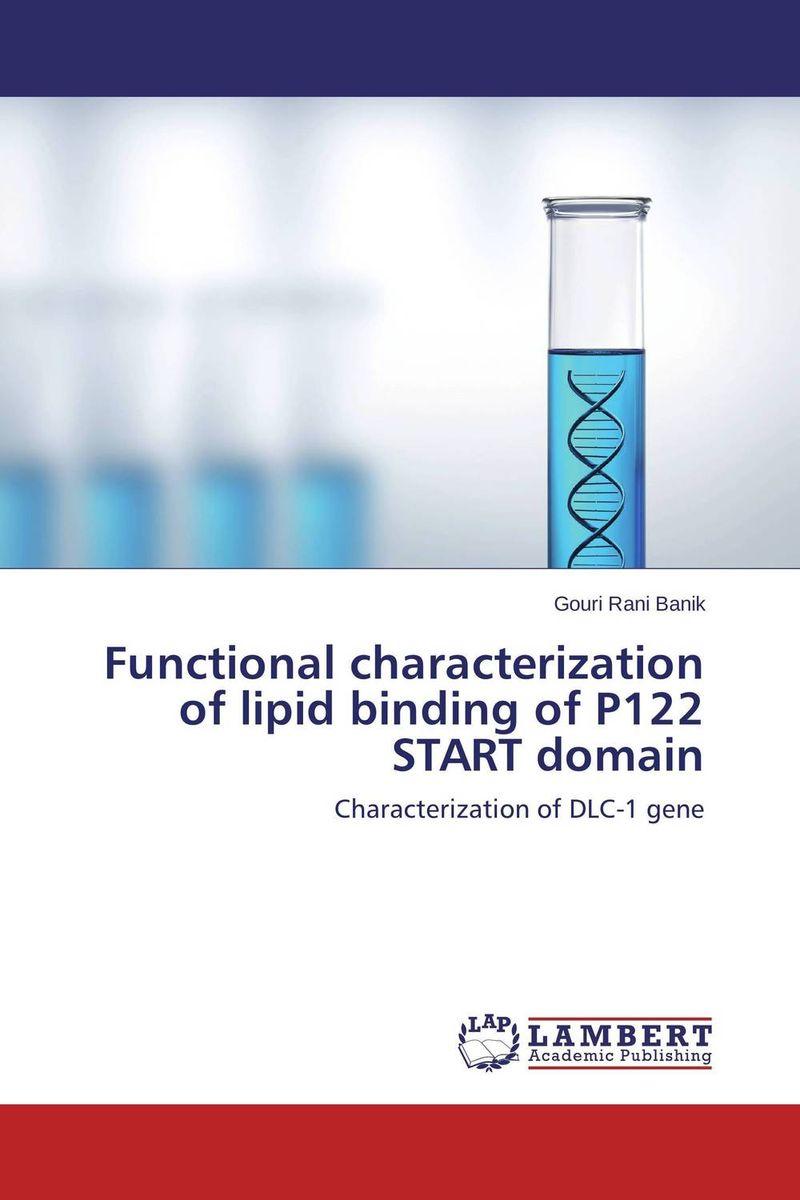 Functional characterization of lipid binding of P122 START domain rockshox domain dual crown 2014
