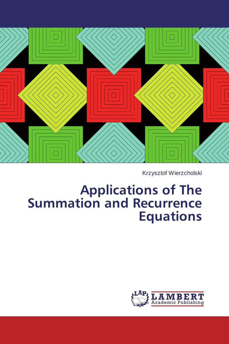 цены Applications of The Summation and Recurrence Equations