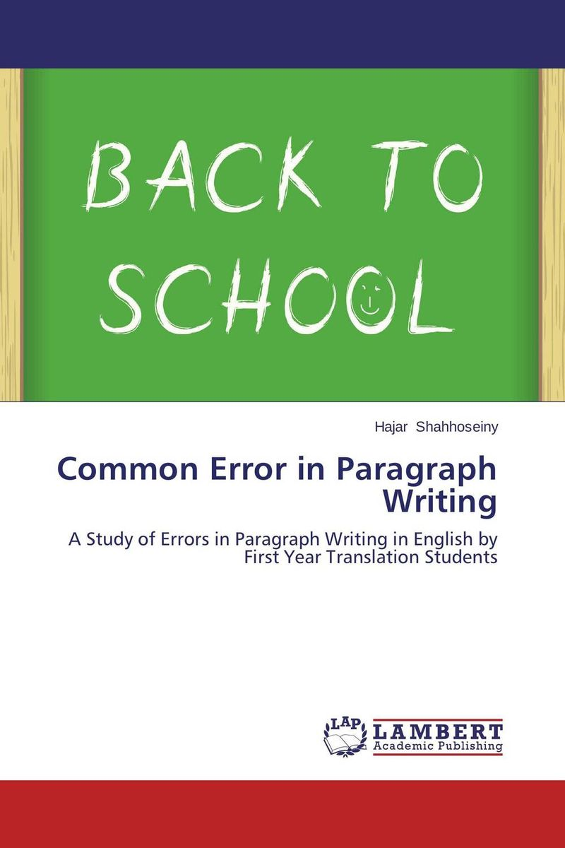 Common Error in Paragraph Writing