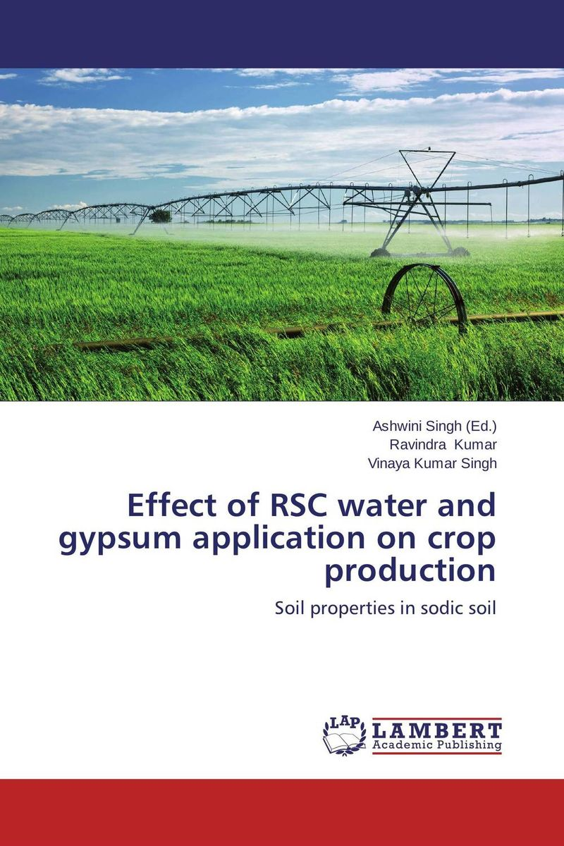 Effect of RSC water and gypsum application on crop production analysis of bacterial colonization on gypsum casts