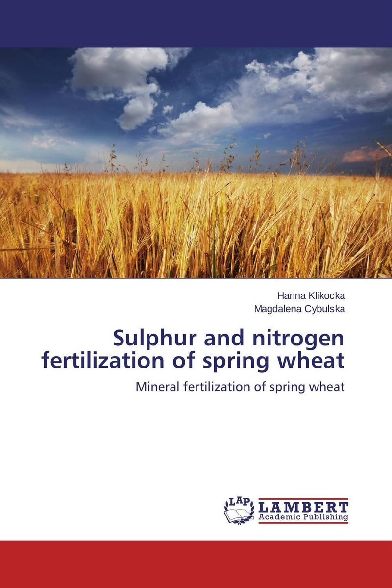 Sulphur and nitrogen fertilization of spring wheat nify benny and c h sujatha enrichment of sulphur compounds in the cochin estuarine system