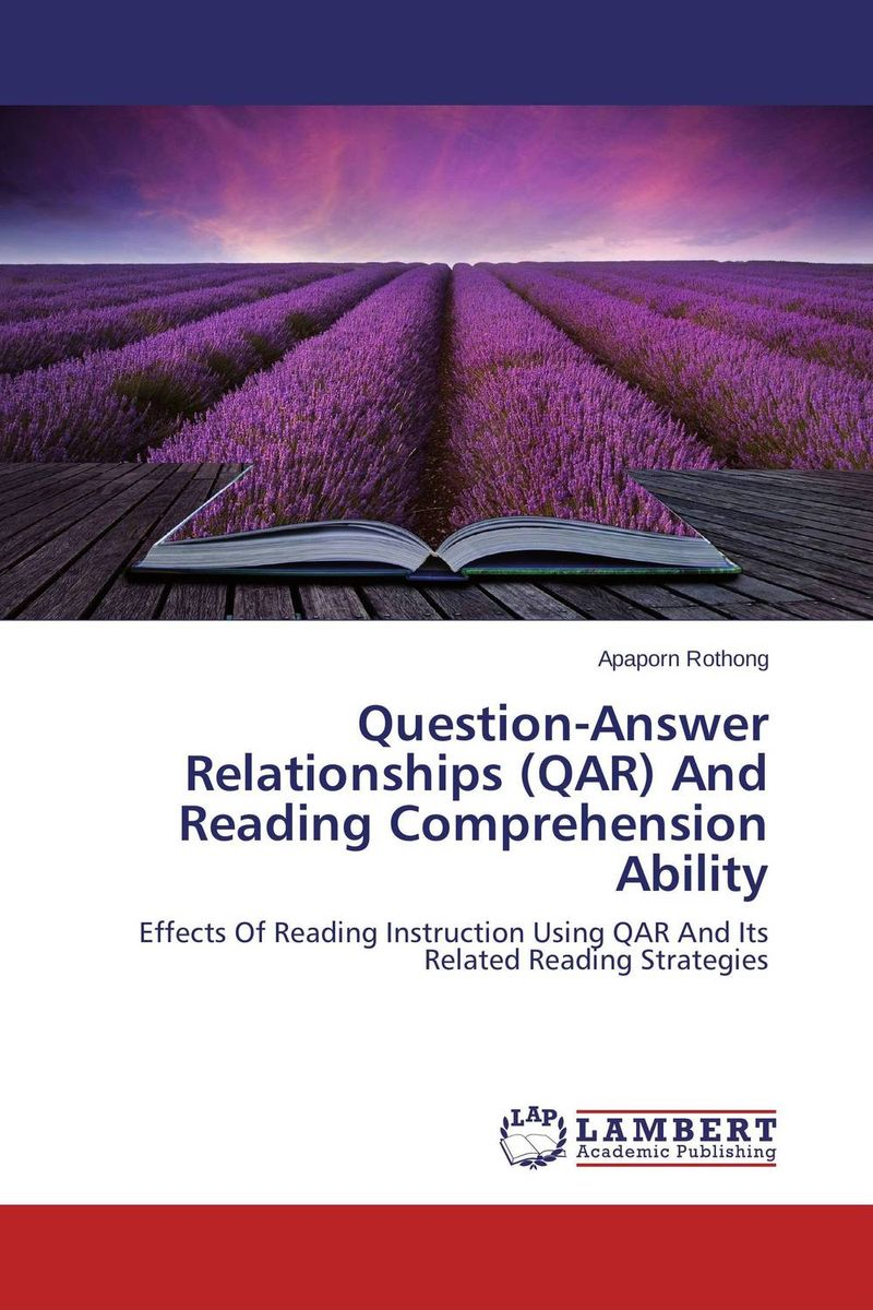 Question-Answer Relationships (QAR) And Reading Comprehension Ability jw sport mn 017a