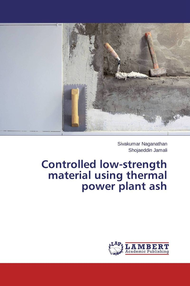 Controlled low-strength material using thermal power plant ash