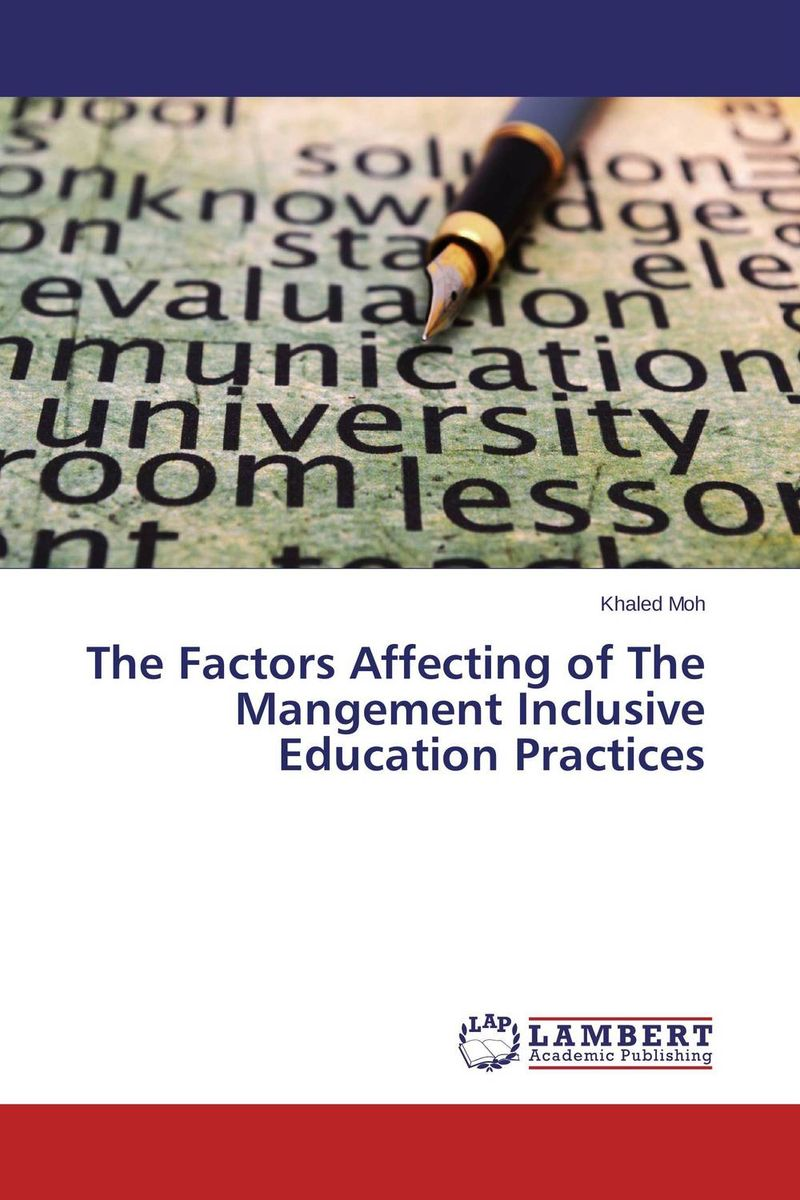The Factors Affecting of The Mangement Inclusive Education Practices