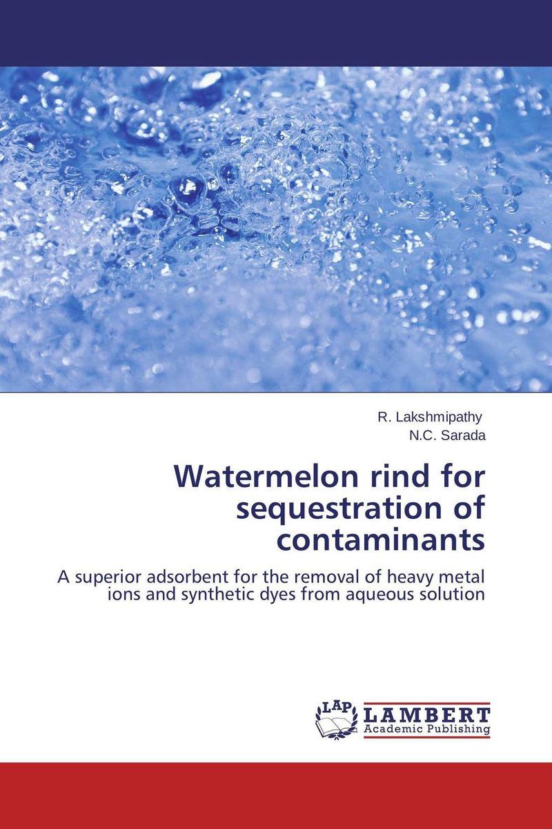 Watermelon rind for sequestration of contaminants gnanasekar s and chandrasekhar c n carbon sequestration in multipurpose tree species at seedling stage