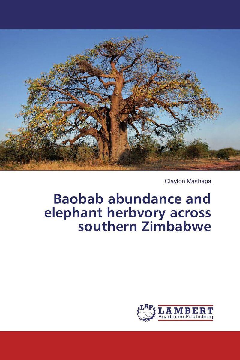 Baobab abundance and elephant herbvory across southern Zimbabwe недорого