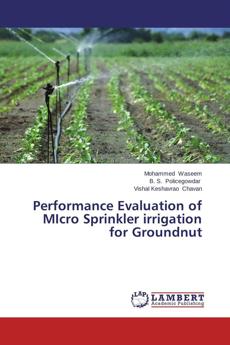 Performance Evaluation of MIcro Sprinkler irrigation for Groundnut optimal capacity design and performance evaluation