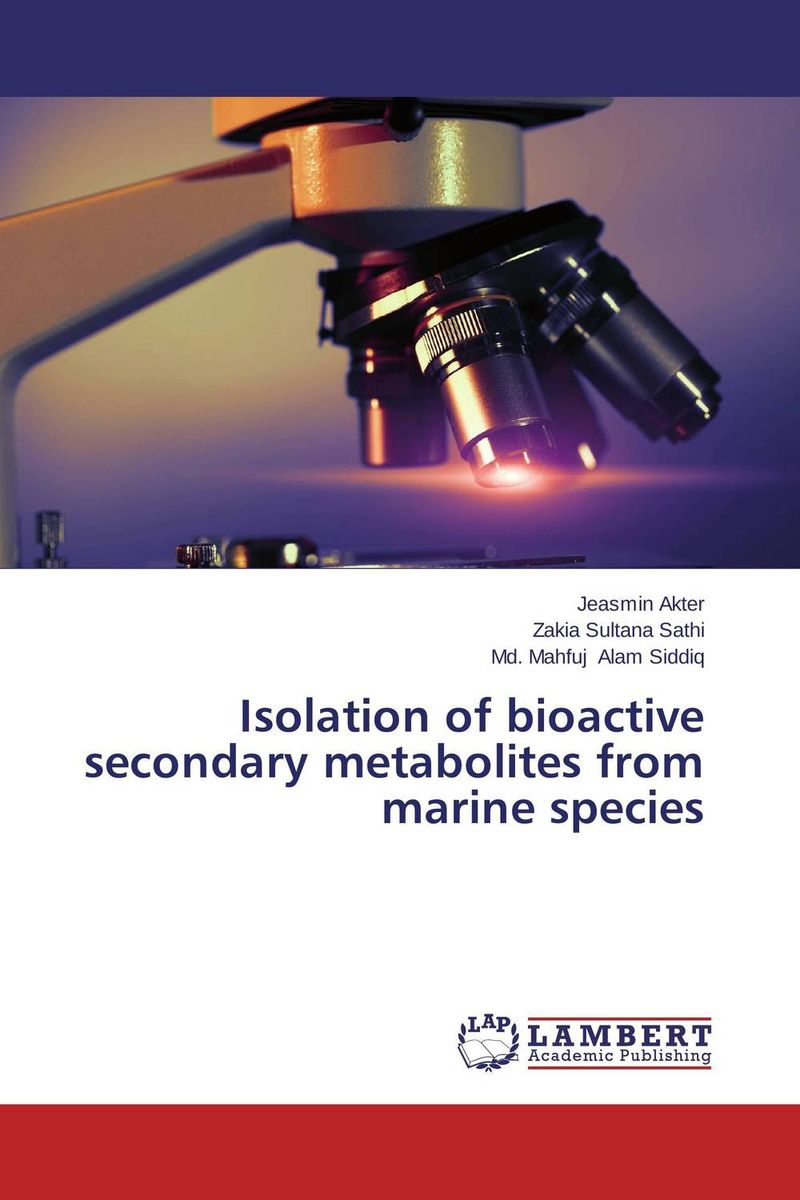 Isolation of bioactive secondary metabolites from marine species bioactive microbial metabolites