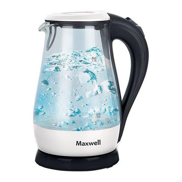 Maxwell MW-1070(W) электрочайникMW-1070(W)Электрический чайник Maxwell MW-1070(W) поможет вам быстро и качественно вскипятить питьевую воду. Он примечателен своим дизайном, поэтому прекрасно дополнит вашу кухню. Прибор придется по нраву самым взыскательным пользователям. Корпус из прочного стекла обеспечит вам надежность и долговечность в использовании. Электрические чайники торговой марки Maxwell – это большой ассортимент моделей. Среди них вы сможете выбрать вариант, который гармонично будет смотреться на кухне, по объему резервуара соответствовать количеству членов вашей семьи и полностью устраивать вас по функциональности. Среди изобилия моделей предлагаются как самые простые чайники, так и усовершенствованные приборы с наличием дополнительных опций. Среди некоторых особенностей функциональных чайников можно выделить возможность регулировки температуры нагрева воды и заваривания чая непосредственно в чайнике. Каждый чайник Maxwell уникален. Разный дизайн, форма, мощность и объем дают возможность выбора, подчеркивая ваш изысканный вкус.