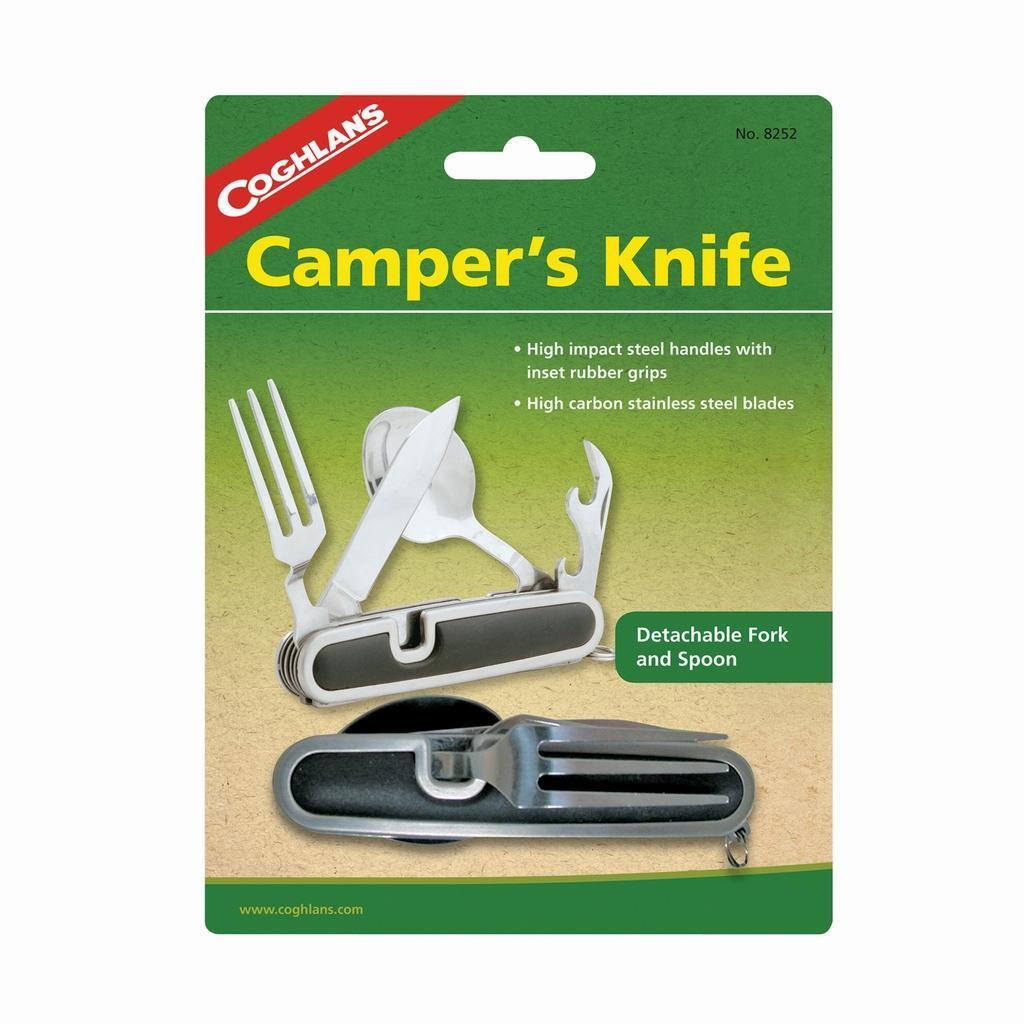 Складной нож для кемпинга COGHLANS8252Складной нож содержит: - нож; - открывалку для бутылок и консервных банок;- ложку; - вилку.