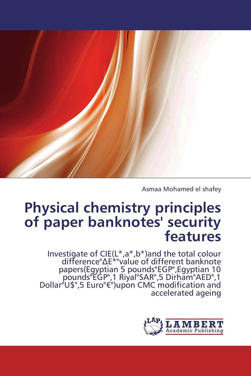 Physical chemistry principles of paper banknotes' security features adv physical organic chemistry v5 apl 5