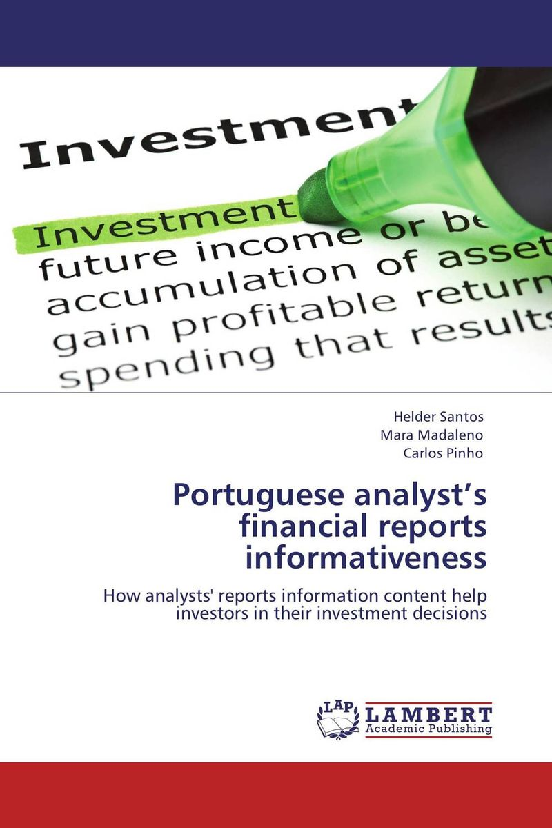 Portuguese analyst's financial reports informativeness alexander elder the new sell and sell short how to take profits cut losses and benefit from price declines