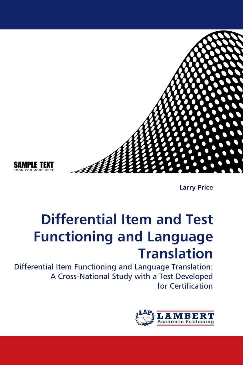 Differential Item and Test Functioning and Language Translation the translation of figurative language