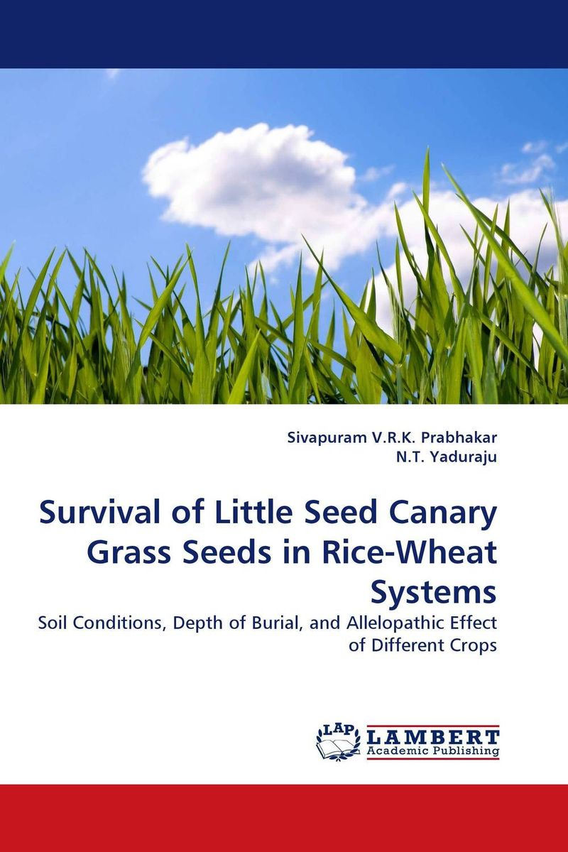 Survival of Little Seed Canary Grass Seeds in Rice-Wheat Systems zero tillage technology in rice wheat cropping system of pakistan